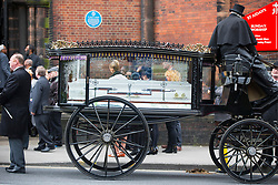© Licensed to London News Pictures. 21/04/2017. Leeds UK. The funeral of Raheem Wilks is taking place today at St Aidan's church in Leeds. Raheem who is the brother of Leeds United footballer Malik Wilks died as a result of a single gunshot wound to the chest outside a barber shop on Gathorn Terrace in the Harehills area of Leeds in January. Photo credit: Andrew McCaren/LNP
