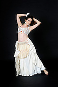 Tribal style Belly dancer On white Background