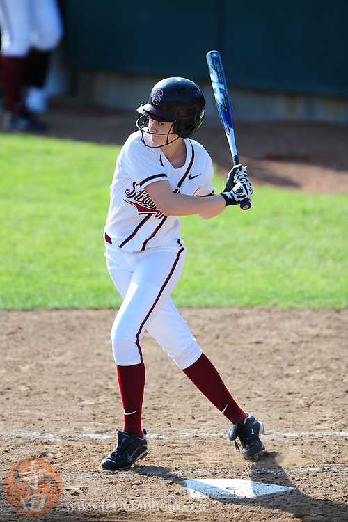 March 26, 2010; Stanford, CA, USA; Stanford Cardinal batter Jaquilyn Edwards at bat during the game against the CSU Bakersfield Roadrunners in the Stanford Invitational at Boyd & Jill Smith Family Stadium. The Cardinal defeated the Roadrunners 12-0. Mandatory Credit: Kyle Terada-Terada Photo