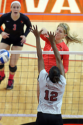 12 October 2013:  Emily Schneider during an NCAA womens volleyball match between the Missouri State Bears and the Illinois State Redbirds at Redbird Arena in Normal IL