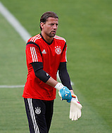 Roman Weidenfeller of Germany during the Germany training session at the Est&aacute;dio S&atilde;o Janu&aacute;rio, Rio de Janeiro, ahead of tomorrow's World Cup Final. <br /> Picture by Andrew Tobin/Focus Images Ltd +44 7710 761829<br /> 12/07/2014