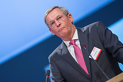 20.04.2016, Messe Essen, Essen, GER, Hauptversammlung RWE AG, im Bild Peter Ottmann (Verwaltungsjurist und Politiker (CDU) Kandidat fuer den Aufsichtsrat bei RWE) // during the annual general meeting of RWE AG at the Messe Essen in Essen, Germany on 2016/04/20. EXPA Pictures © 2016, PhotoCredit: EXPA/ Eibner-Pressefoto/ Deutzmann<br /> <br /> *****ATTENTION - OUT of GER*****