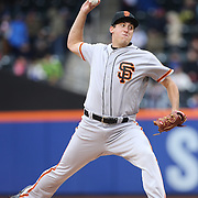 NEW YORK, NEW YORK - MAY 01: Pitcher Derek Law #64 of the San Francisco Giants pitching during the New York Mets Vs San Francisco Giants MLB regular season game at Citi Field on May 01, 2016 in New York City. (Photo by Tim Clayton/Corbis via Getty Images)