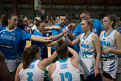 Damir Grgic and Slovenian team during friendly basketball match between Women teams of Slovenia and Czech Republic before EuroBasket Serbia 2019, on May 31st, 2019 in Arena Tri Lilije, Lasko, Slovenia. Photo by Milos Vujinovic / Sportida