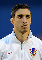 Football Fifa Brazil 2014 World Cup Matchs-Qualifier / Europe - Group A /<br /> Croatia vs Belgium 1-2  ( Maksimir Stadium - Zagreb , Croatia )<br /> Sime VRSALJKO of Croatia , during the match between Croatia and Belgium
