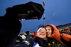 March 16, 2019 - –Stersund, Sweden - 190316 Johannes Thingnes Bø of Norway takes a selfie with his wife Hedda Kløvstad Dæhli after the Men's 4x7,5 km Relay during the IBU World Championships Biathlon on March 16, 2019 in Östersund..Photo: Petter Arvidson / BILDBYRÃ…N / kod PA / 92269 (Credit Image: © Petter Arvidson/Bildbyran via ZUMA Press)