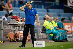 coach Leonid Slutski Sloetski Sloetsky Slutsky of Vitesse during the UEFA Europa League third round qualifying first leg match between Vitesse Arnhem and FC Basel at the Gelredome on August 09, 2018 in Arnhem, The Netherlands