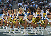 Dec 31, 2017; Carson, CA, USA; Los Angeles Chargers girls cheerleaders perform during an NFL football game against the Oakland Raiders at StubHub Center.