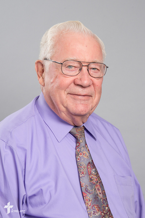 Headshot photograph of Ernest Garbe on Monday, June 1, 2015, at the International Center of The Lutheran Church–Missouri Synod in Kirkwood, Mo. LCMS Communications/Frank Kohn