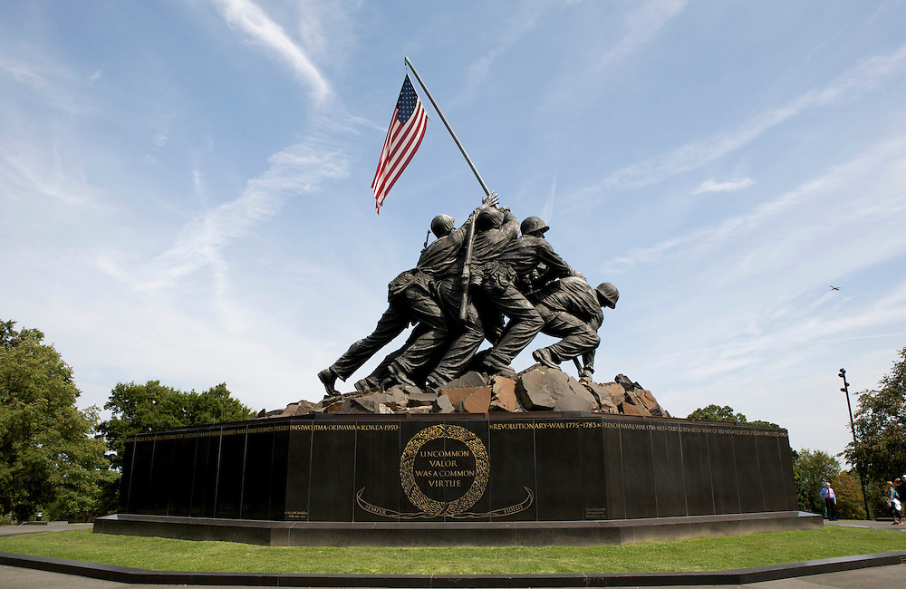 UNITED STATES-WASHINGTON DC-Arlington National Cemetery. Iwo Jima, The United States Marines Corps Memorial.VERENIGDE STATEN-WASHINGTON DC-Arlington National Cemetery. Iwo Jima, The United States Marines Corps Memorial. PHOTO GERRIT DE HEUS