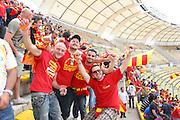 Foto di Donato Fasano .15  05  2011  Bari ( Italia ).Sport Calcio.AS Bari -  Us Lecce   TIM Serie A 2010  2011 - Stadio San Nicola Bari.Nella foto:  tifosi leccesi in curva sud .