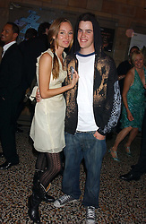 RUBY STEWART and GARRETT BARNES at the opening party for Diamonds - a new exhibition at The Natural History Museum, London in association with De Beers held on 6th July 2005.<br /><br />NON EXCLUSIVE - WORLD RIGHTS