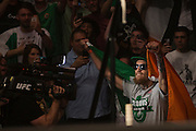 Conor McGregor weighs in during the official UFC 189 weigh-in event at the MGM Grand Arena in Las Vegas on July 10, 2015. (Cooper Neill)