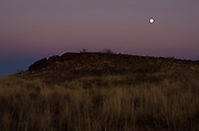 Vista at dusk along the Mother Road: Historic Route 66 near Santa Rosa, New Mexico.