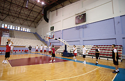 Players during the Practice session of National team of Slovenia at 2010 FIBA World Championships on September 7, 2010 at Ahmet Comert Spor Salonu in Istanbul, Turkey. (Photo By Vid Ponikvar / Sportida.com)