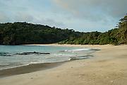 Pacific Ocean beach at sunset, Las Perlas archipelago,Panama,Central America