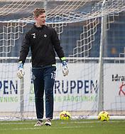 Christoffer Monty (FC Helsingør) under opvarmningen til kampen i 2. Division mellem Holbæk B&I og FC Helsingør den 20. oktober 2019 i Holbæk Sportsby (Foto: Claus Birch).