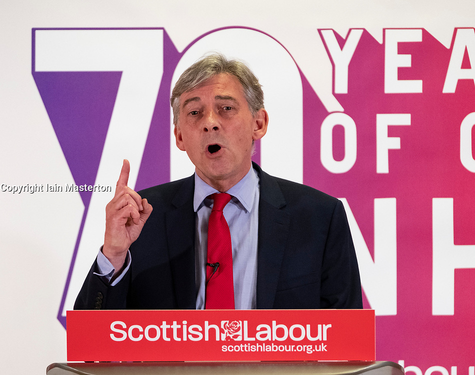 Livingston, Scotland, UK. 29 June, 2018. Labour Leader Jeremy Corbyn makes speech at a rally in Livingston to mark a step up in Scottish Labour's NHS campaigning ahead of the NHS's 70th Birthday. Pictured; Scottish Labour Leader Richard Leonard also speaking.