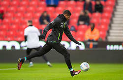 STOKE-ON-TRENT, ENGLAND - Saturday, January 25, 2020: Swansea City's Rhian Brewster during the pre-match warm-up before the Football League Championship match between Stoke City FC and Swansea City FC at the Britannia Stadium. (Pic by David Rawcliffe/Propaganda)