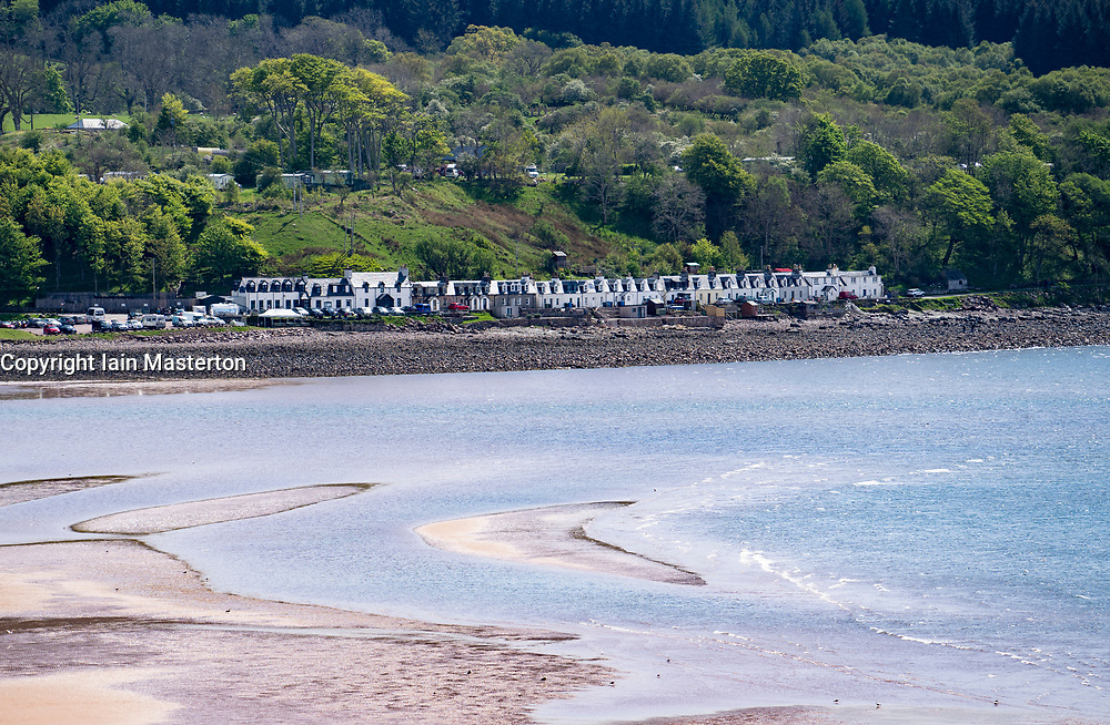 View of village of Applecross on the North Coast 500 scenic driving route in northern Scotland, UK