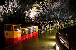 Train in cave after the FIBA Europe Eurobasket 2013 draw ceremony on November 18, 2012 in Postojna cave, Postojna, Slovenia. (Photo By Vid Ponikvar / Sportida)