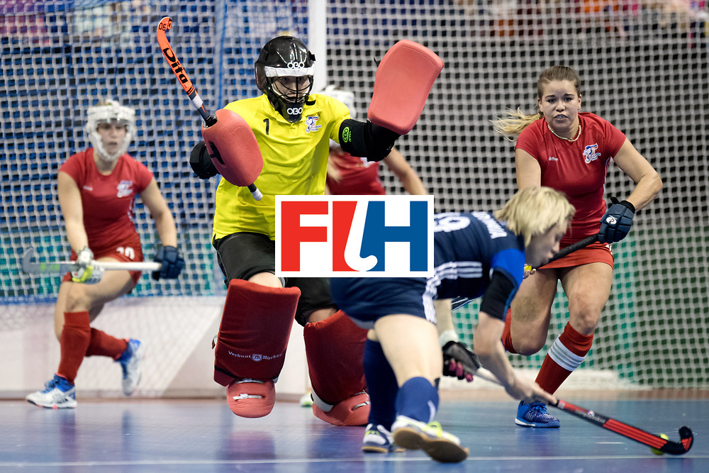 BERLIN - Indoor Hockey World Cup<br /> Women: Russia - Czech Republic<br /> foto: CECHAKOVA Barbora.<br /> WORLDSPORTPICS COPYRIGHT FRANK UIJLENBROEK