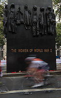 LONDON UK 30TH JULY 2016:  Whitehall JWomen of World War II Memorial. The Prudential RideLondon Classique elite womens' race. Prudential RideLondon in London 30th July 2016<br /> <br /> Photo: Bob Martin/Silverhub for Prudential RideLondon<br /> <br /> Prudential RideLondon is the world's greatest festival of cycling, involving 95,000+ cyclists – from Olympic champions to a free family fun ride - riding in events over closed roads in London and Surrey over the weekend of 29th to 31st July 2016. <br /> <br /> See www.PrudentialRideLondon.co.uk for more.<br /> <br /> For further information: media@londonmarathonevents.co.uk