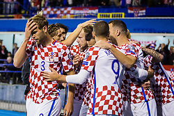 Croatian players celebrates during the football match between National teams of Croatia and Greece in First leg of Playoff Round of European Qualifiers for the FIFA World Cup Russia 2018, on November 9, 2017 in Stadion Maksimir, Zagreb, Croatia. Photo by Ziga Zupan / Sportida