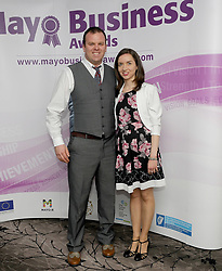 Stephen Prendergast and Aishling Conroy attending the 2018 Mayo Business Awards at the Broadhaven Hotel, Belmullet.<br />