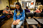 Michele nervously waits for her first meeting with her parole officer, Chad Smith. She was worried about being sent back to jail because she had missed two court ordered narcotics anonymous meetings. As part of her early release from jail Michele had to participate in meetings for addiction, daily NA or AA meetings and was required to pass drug test every morning. This strict regiment has helped her stay clean, but wears her down and occupies a good part of her day each day.