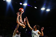 Tom Abercrombie of New Zealand puts up a shot during the Men's Bronze Medal Game between the New Zealand Tall Blacks and Scotland. Gold Coast 2018 Commonwealth Games, Basketball, Gold Coast Convention & Exhibition Centre, Gold Coast, Australia. 15 April 2018 © Copyright Photo: Anthony Au-Yeung / www.photosport.nz