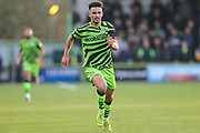 Forest Green Rovers Liam Shephard(2) runs forward during the EFL Sky Bet League 2 match between Forest Green Rovers and Plymouth Argyle at the New Lawn, Forest Green, United Kingdom on 16 November 2019.