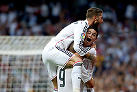 """Spanish  League""- match Real Madrid Vs FC Barcelona- season 2014-15 - Santiago Bernabeu Stadium - Several players of Real Madrid celebrates a goal the during the Spanish League match against FC Barcelona(Photo: Guillermo Martinez / Bohza Press / Alter Photos)"
