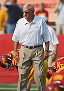 September 12, 2009: Iowa State defensive coordinator Wally Burnham before the start of the Iowa Hawkeyes' 35-3 win over the Iowa State Cyclons at Jack Trice Stadium in Ames, Iowa on September 12, 2009.