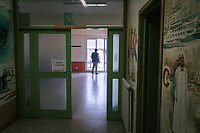 COMO, ITALY - 21 JUNE 2017: Giusto Della Valle, a local priest who since 2011 has run a center on the outskirts of town where more than 50 migrants sleep at night, is seen here in the center, in Como, Italy, on June 21st 2017.<br /> <br /> Residents of Como are worried that funds redirected to migrants deprived the town's handicapped of services and complained that any protest prompted accusations of racism.<br /> <br /> Throughout Italy, run-off mayoral elections on Sunday will be considered bellwethers for upcoming national elections and immigration has again emerged as a burning issue.<br /> <br /> Italy has registered more than 70,000 migrants this year, 27 percent more than it did by this time in 2016, when a record 181,000 migrants arrived. Waves of migrants continue to make the perilous, and often fatal, crossing to southern Italy from Africa, South Asia and the Middle East, seeing Italy as the gateway to Europe.<br /> <br /> While migrants spoke of their appreciation of Italy's humanitarian efforts to save them from the Mediterranean Sea, they also expressed exhaustion with the country's intricate web of permits and papers and European rules that required them to stay in the country that first documented them.