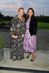Left to right, ANYA HINDMARCH and NATALIE MASSENET at a party to kick off London Fashion Week hosted by US Ambassador Matthew Barzun and Mrs Brooke Brown Barzun with Alexandra Shulman in association with J.Crew hrld at Winfield House, Regent's Park, London on 18th September 2015.