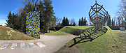 Österreichischer Skulpturenpark (Austrian Sculptures Park), Premstätten.<br /> Mario Terzic, Arche aus lebenden Bäumen, 1998/2010-2011 (r.), Jörg Schlick, Made in Italy, 2003