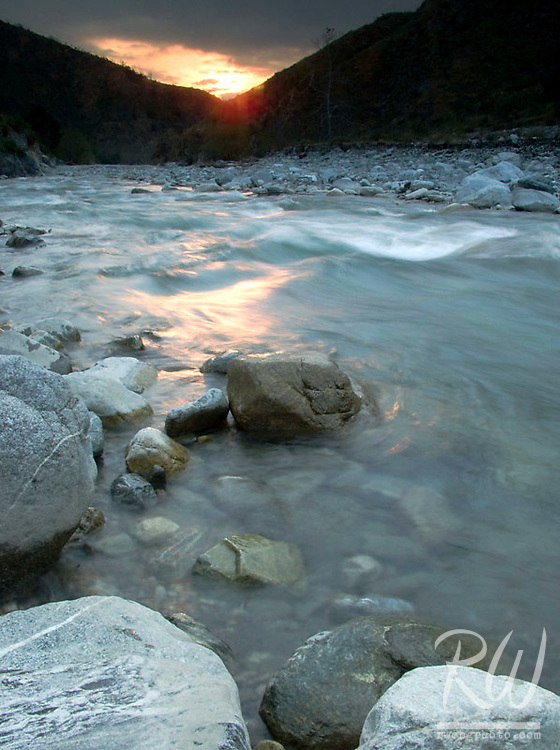 Sunset East Fork San Gabriel River, CA