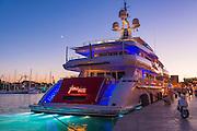 Yacht docked at Trogir, Dalmatian Coast, Croatia