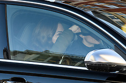 © Licensed to London News Pictures. 09/01/2020. London, UK. CATHERINE, DUCHESS OF CAMBRIDGE is seen covering her face as she arrives back at Kensington Palace in London on her Birthday.Yesterday Prince Harry and Megan, The Duke and Duchess of Sussex, announced that they will be stepping back from official Royal duty and spending more time abroad. Photo credit: Ben Cawthra/LNP