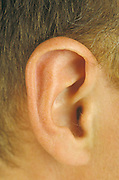 close up of man?s ear
