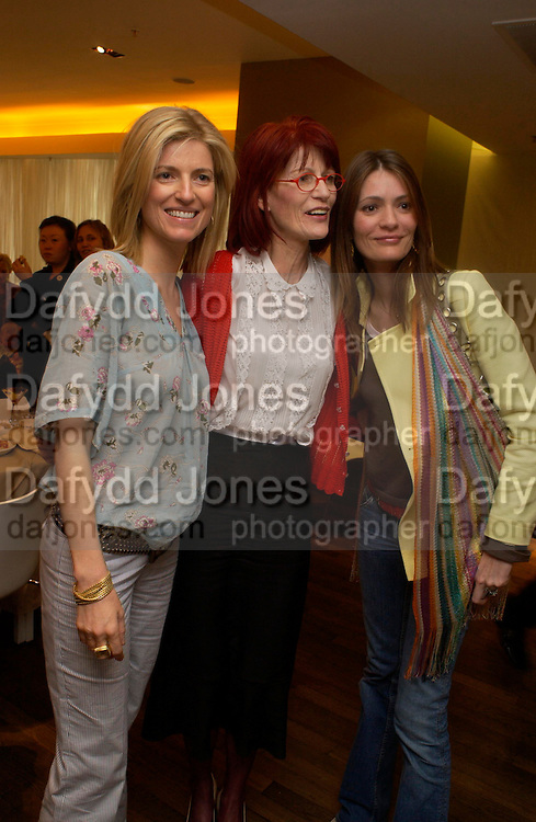 Lucy Sykes, mother: Valerie Goad and Plum Sykes. Launch of 'Lucy  Sykes Baby, New York' Selfridges. 14 April 2005. ONE TIME USE ONLY - DO NOT ARCHIVE  © Copyright Photograph by Dafydd Jones 66 Stockwell Park Rd. London SW9 0DA Tel 020 7733 0108 www.dafjones.com