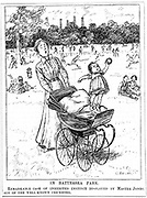An example of Darwinism in everday life. Cartoon from 'Punch', London, 28 June 1911.