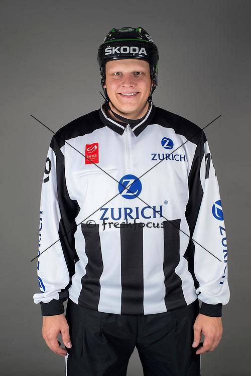 09.08.2015; Magglingen; Eishockey NLA - Schiedsrichter;<br /> David Obwegeser <br /> (Andy Mueller/freshfocus)