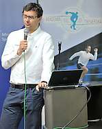 Maciej Zalewski (Garmin Polska) speaks during conference of olympic trainers and coaches at COS (Centralny Osrodek Sportowy) in Spala on May 14, 2014.<br /> <br /> Poland, Spala, May 14, 2014<br /> <br /> Picture also available in RAW (NEF) or TIFF format on special request.<br /> <br /> For editorial use only. Any commercial or promotional use requires permission.<br /> <br /> Mandatory credit:<br /> Photo by © Adam Nurkiewicz / Mediasport