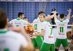 Ivan Colovic of Panvita Pomgrad during volleyball game between OK ACH Volley and OK Panvita Pomgrad in 1st final match of Slovenian National Championship 2013/14, on April 6, 2014 in Arena Tivoli, Ljubljana, Slovenia. Photo by Vid Ponikvar / Sportida