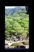 "Photo shows the ""living hanging scroll"" -- a scroll-like view through a window of a real Japanese garden at the Adachi Museum of Art in Yasugi, Shimane Prefecture, Japan..Photographer: Robert Gilhooly"