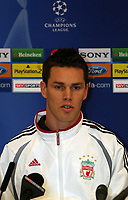 Photo: Paul Thomas.<br /> Liverpool Press Conference. UEFA Champions League. 21/11/2006.<br /> <br /> Steve Finnan.