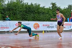 06/08/2017; de Souza, Samuel, T13, BRA, Mashhadian Khouzani, Mohammad, IRI at 2017 World Para Athletics Junior Championships, Nottwil, Switzerland
