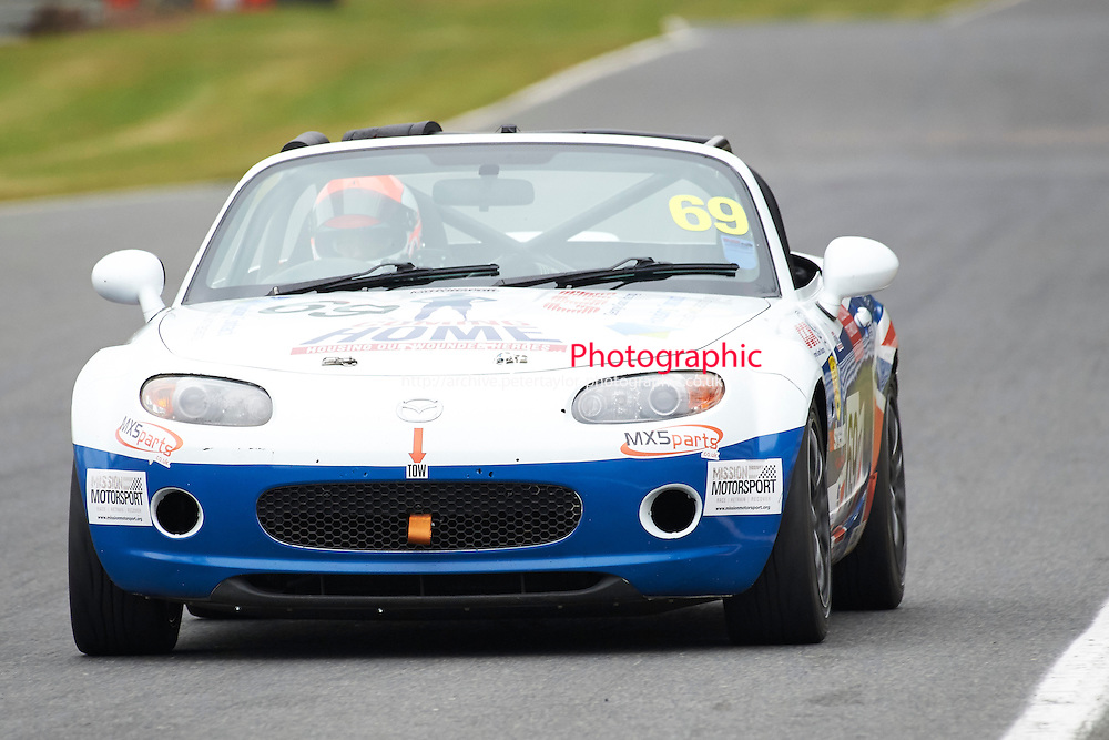 #69 George GRANT Mazda MX5 Mk3 2000 during Max 5 Championship as part of the BARC NW - Championship Raceday  at Oulton Park, Little Budworth, Cheshire, United Kingdom. March 19 2016. World Copyright Peter Taylor/PSP. Copy of publication required for printed pictures.  Every used picture is fee-liable. http://archive.petertaylor-photographic.co.uk